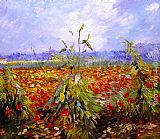 Famous Poppies Paintings - A Field With Poppies