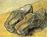 Vincent van Gogh A Pair of Leather Clogs painting