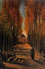Vincent van Gogh Avenue of Poplars in Autumn painting