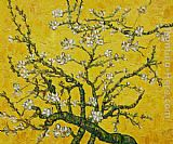 Vincent Van Gogh Wall Art - Branches of an Almond Tree in Blossom yellow