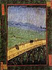 Bridge Canvas Paintings - Bridge in the Rain