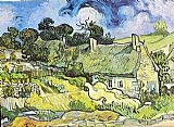 Sur Canvas Paintings - Chaumes de Cordeville Auvers-sur-Oise 1890