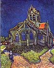 Vincent van Gogh Church of Auvers painting