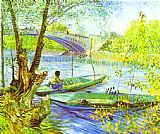 Vincent Van Gogh Famous Paintings - Fishing in Spring