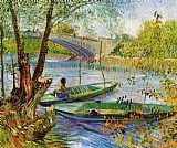 Vincent van Gogh Fishing in the Spring painting