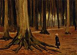 Vincent van Gogh Girl in the Woods painting