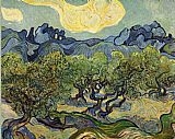 Famous Trees Paintings - Landscape with Olive Trees