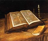 Vincent van Gogh Life with Bible painting