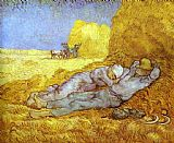 Rest Canvas Paintings - Noon Rest After Millet