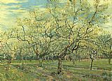 Famous Trees Paintings - Orchard with Blossoming Plum Trees