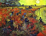 Vincent van Gogh Red vineyards painting