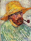 Vincent van Gogh Self-Portrait with Straw painting