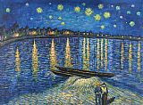 Vincent Van Gogh Famous Paintings - Starry Night Over the Rhone 2