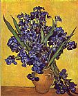 Vincent van Gogh Still Life with irises painting