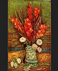 Vincent van Gogh Still Life with red gladioli painting