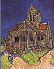 Church Canvas Paintings - The Church of Auvers