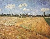 Field Canvas Paintings - The Plowed Field