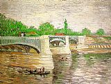 Vincent van Gogh The Seine with the Pont de la Grand Jatte painting