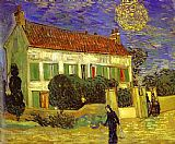 Vincent van Gogh The White House at Night La maison blanche au nuit painting