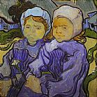 Vincent van Gogh Two Little Girls painting