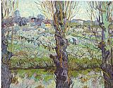View of Arles Flowering Orchards