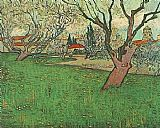 View of Arles with Tress in Blossom
