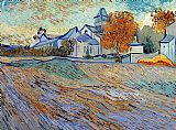 Church Canvas Paintings - View of the Church of Saint-Paul-de-Mausole