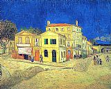 Yellow Canvas Paintings - Vincent's House in Arles The Yellow House