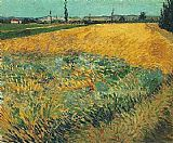 Vincent van Gogh Wheat Field with the Alpilles Foothills in the Background painting