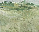 Vincent van Gogh Wheat Fields with Auvers in the Background painting