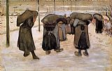 Vincent van Gogh Women Miners Carrying Coal painting