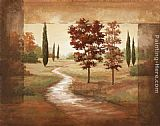 Vivian Flasch Canvas Paintings - Autumn Scroll I