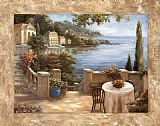Vivian Flasch Famous Paintings - Mediterranean Terrace I