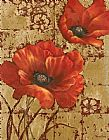 Vivian Flasch Famous Paintings - Poppies on Gold I
