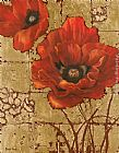 gold Wall Art - Poppies on Gold II