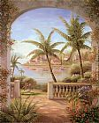 Vivian Flasch Canvas Paintings - Tropical Terrace II