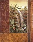 Vivian Flasch Tropical Waterfall I painting