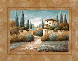 Vivian Flasch Canvas Paintings - Tuscan Blue II