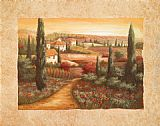 Vivian Flasch Famous Paintings - Tuscan Sunset I