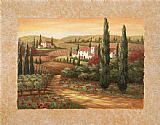 Vivian Flasch Famous Paintings - Tuscan Sunset II