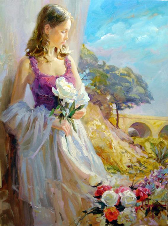 Vladimir Volegov Thoughts of Springtime painting | framed ...