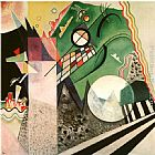 Wassily Kandinsky Green Composition 1923 painting