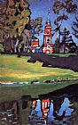 Famous Church Paintings - Red Church
