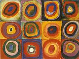 Wassily Kandinsky Squares with Concentric painting