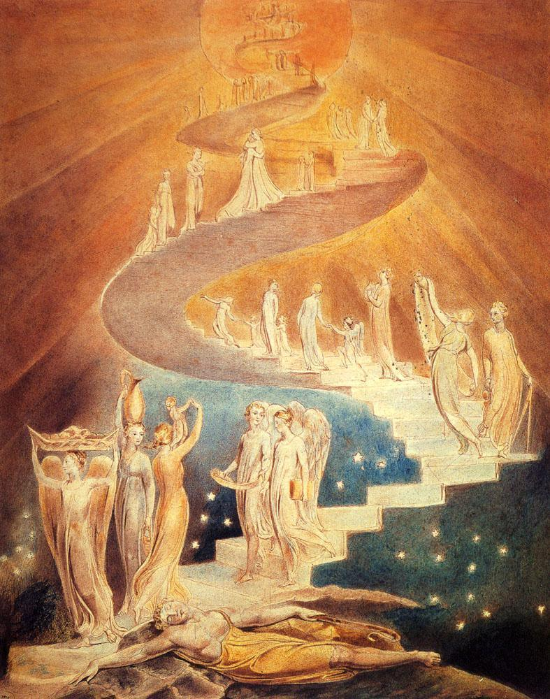 William Blake Jacob's Ladder painting | framed paintings for sale