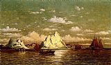 William Bradford Canvas Paintings - Arctic Harbor