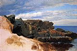 Study Canvas Paintings - Rock Study at Nahant, Massachusetts