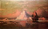 William Bradford Wall Art - Whalers After the Nip in Melville Bay