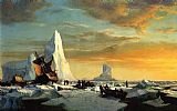 William Bradford Wall Art - Whalers Trapped by Arctic Ice