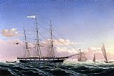 William Bradford Wall Art - Whaleship 'Jireh Swift' of New Bedford